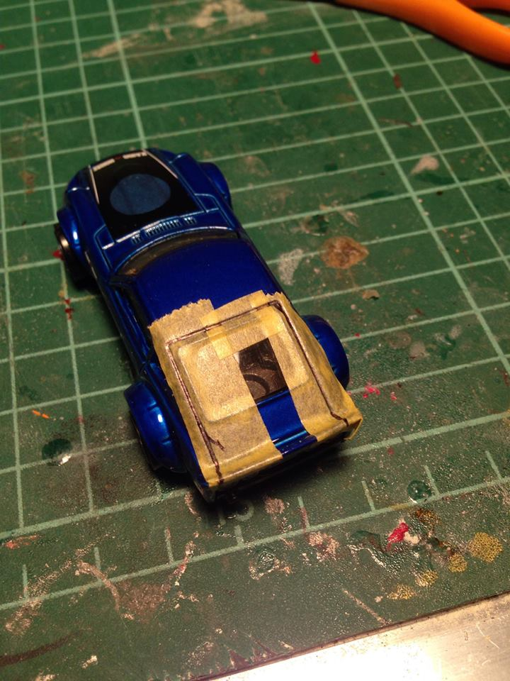 how to cut the panels out cleanly on a hot wheels diecast car