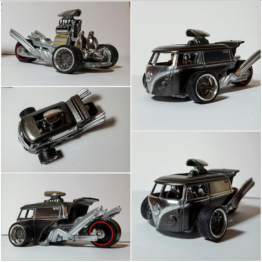 Kool Kombi Trike Dragster custom hot wheels turned logo