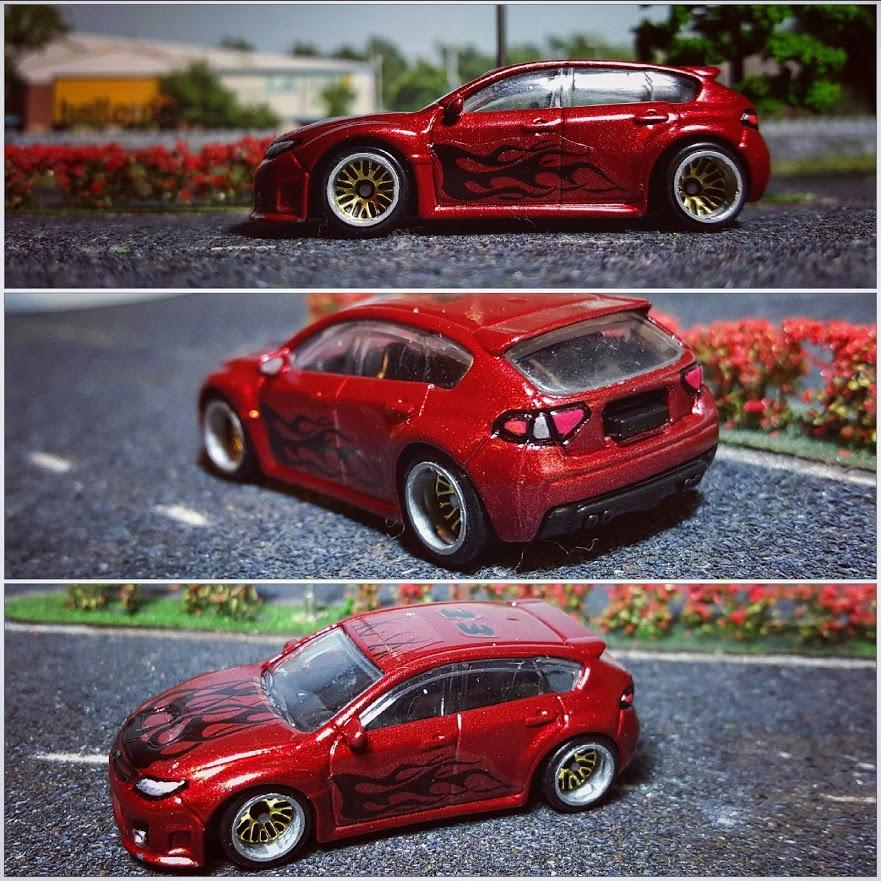 Subaru WRX on Custom BBS wheels collage 2