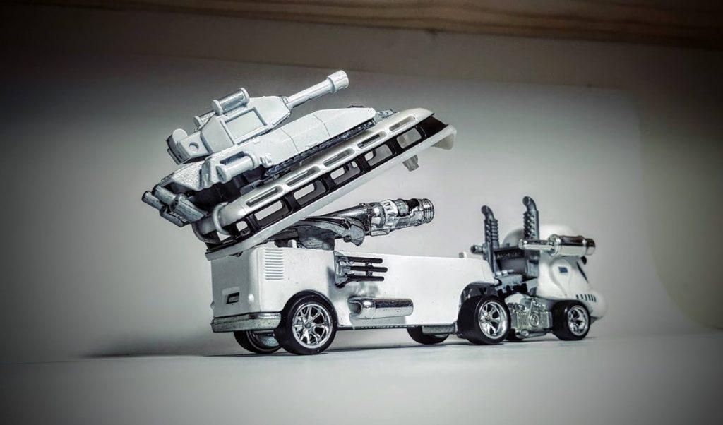 custom star wars storm trooper hot wheels vw hauler