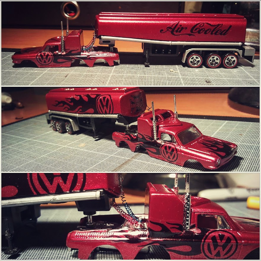 Custom Hot Wheels Volkswagen Squareback Tanker Truck