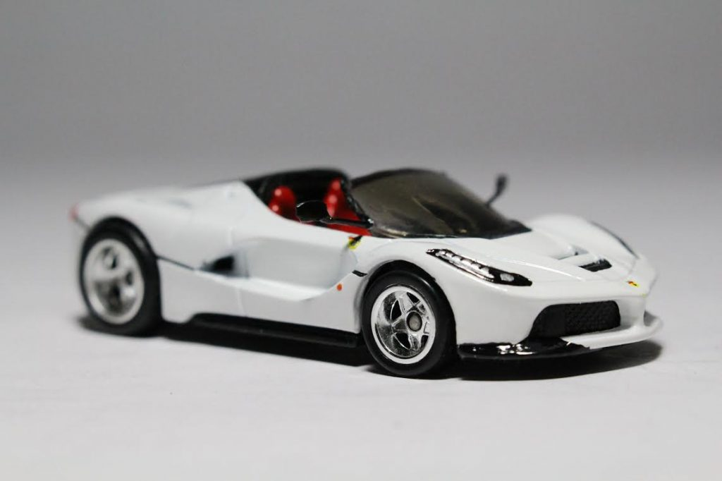 Hot Wheels LaFerrari with custom built wing mirrors