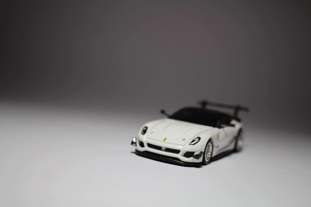 Hot Wheels Ferrari 599XX with custom built wing mirrors