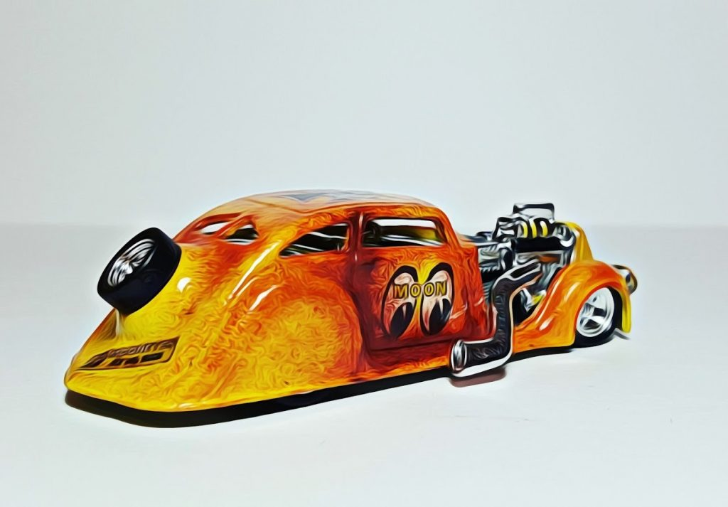 Custom Hotwheels Chrysler Air Flow Mooneyes