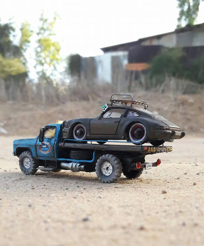 sharon-tarshish-rat-porsche-on-flatbed