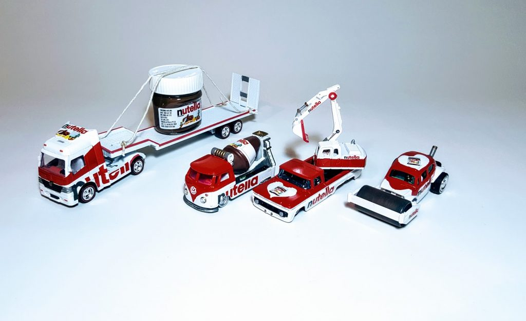 Nutella custom diecast cars collection