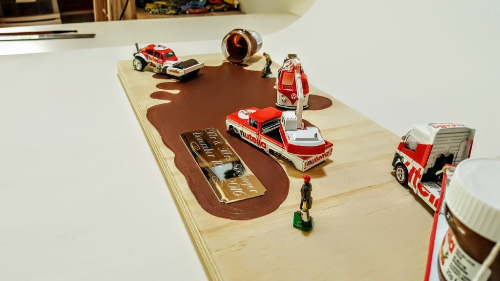 Nutella Custom Hot Wheels Wedding Set 2