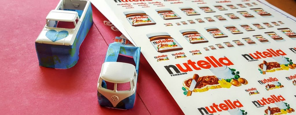 Nutella Custom Hot Wheels Wedding Set WIP 10