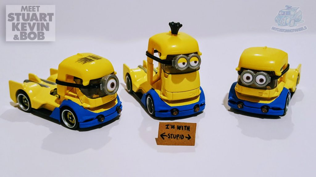 My Custom Hot Wheels Minion Cars - Meet Stuart, Kevin & Bob