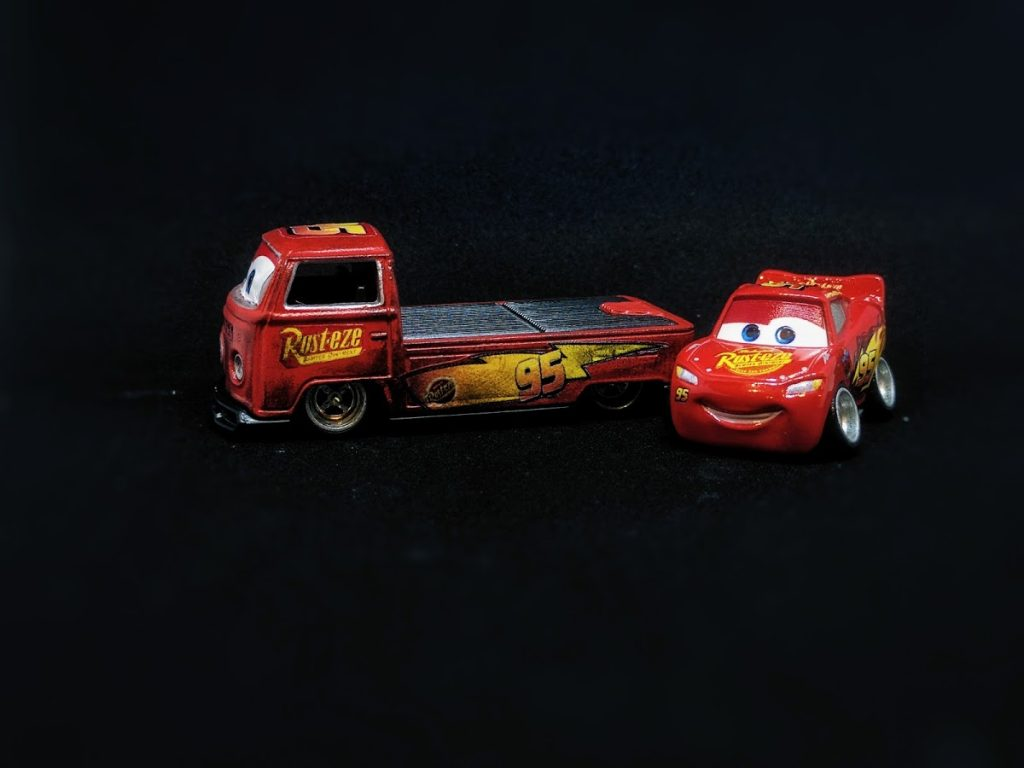 Lightning McQueen and Volks McWagen Custom Hot Wheels