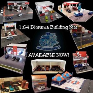 1-64 scale Diorama Building Kits for Hot Wheels Diecast Cars