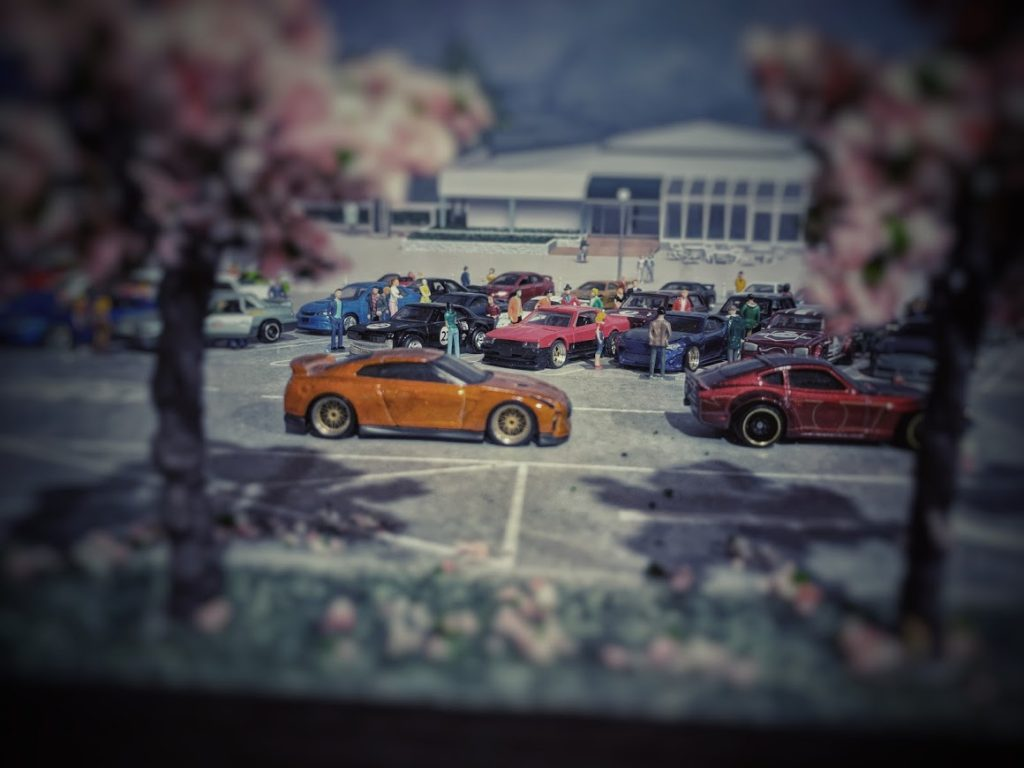 Through the Cherry Blossoms - JDM Meet in 1-64 scale