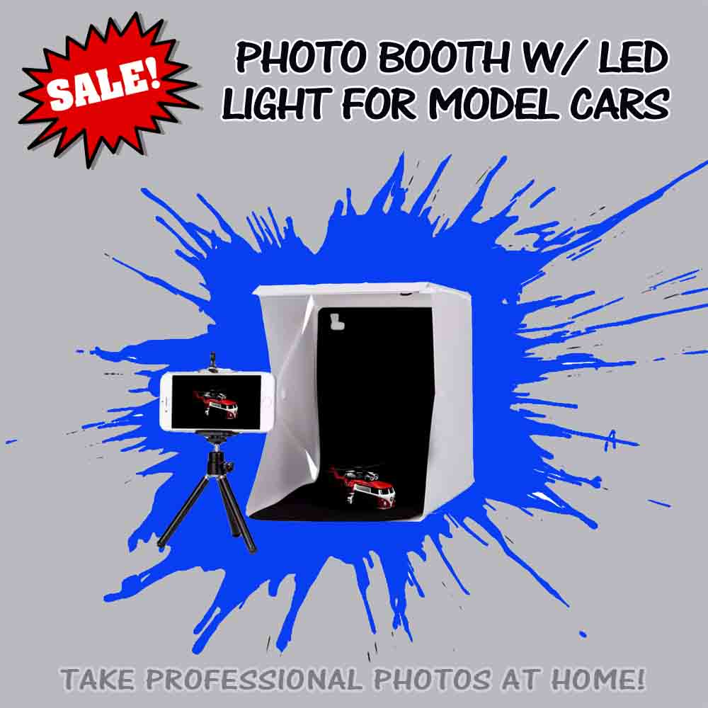 take professional photos of your diecast cars with this photo lightbox