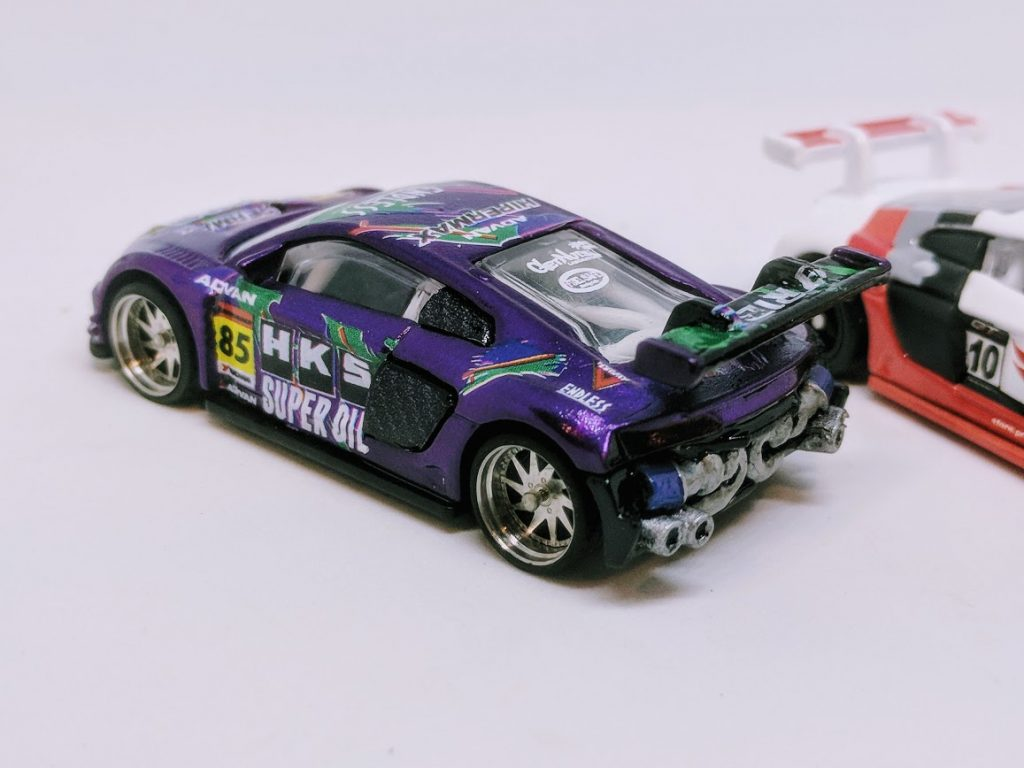 audi r8 LMS Hot Wheels Custom - Purple HKS