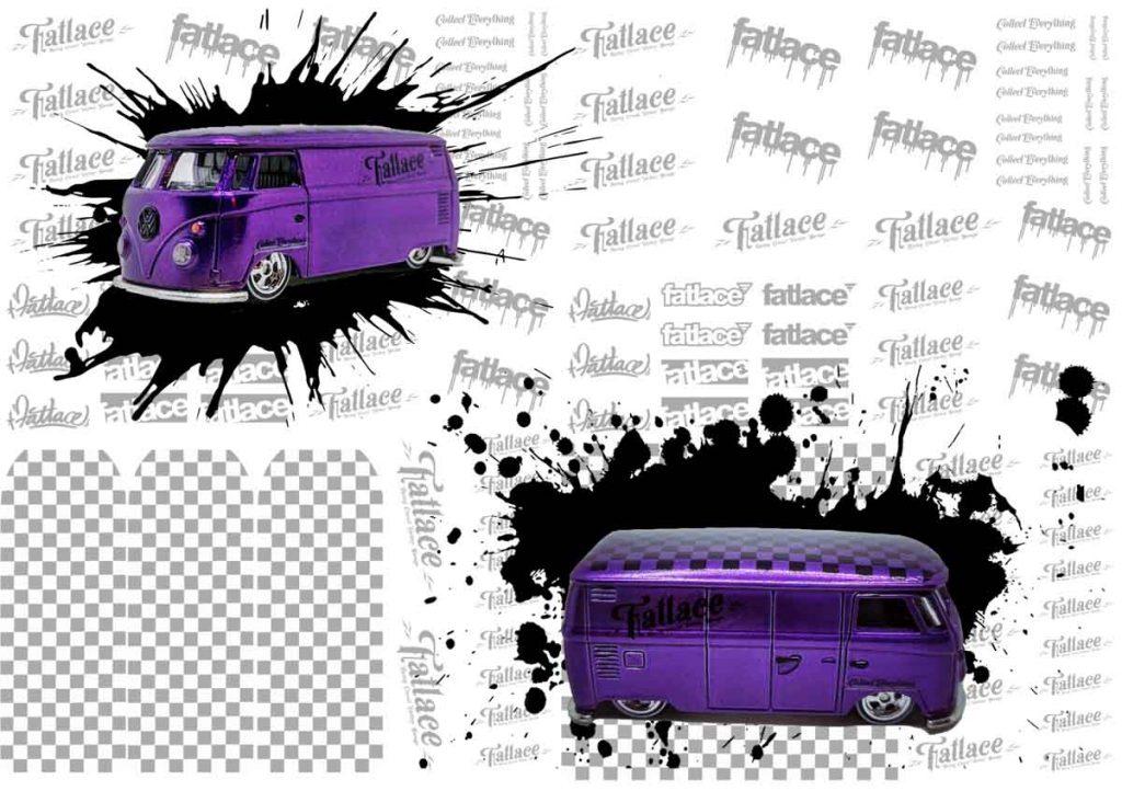 Hot Wheels Fatlace VW T1 Panel Bus - Purple edition