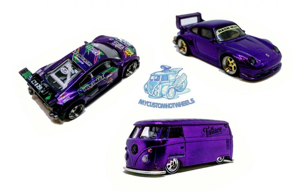 Purple Powered Euro Custom Hot Wheels Diecast Cars