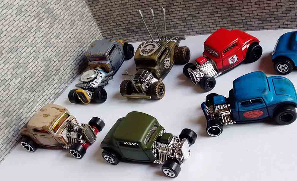 32 Ford Custom Diecast Cars by Hot Wheels and Todd Lyon
