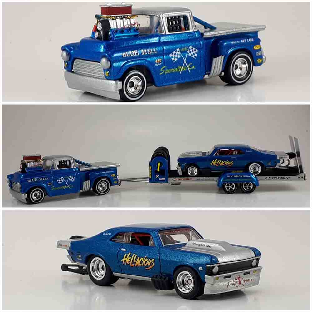 Truck and trailer custom by Josue Casco aka Locogoat