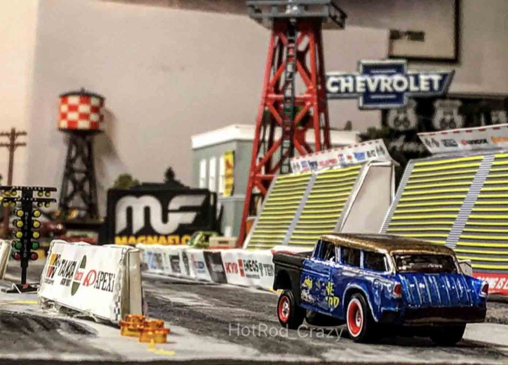 Hot Wheels Diorama Special - Drag Strip Racing Scenes