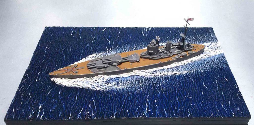 How to weather and rust battleship scale model