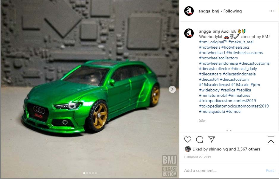 Audi RS6 custom diecast