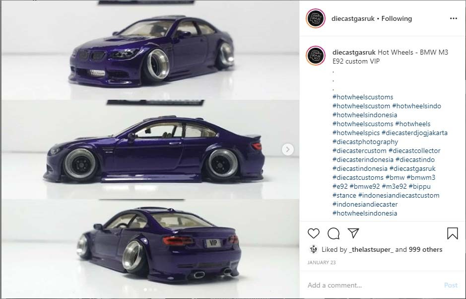BMW M3 custom diecast