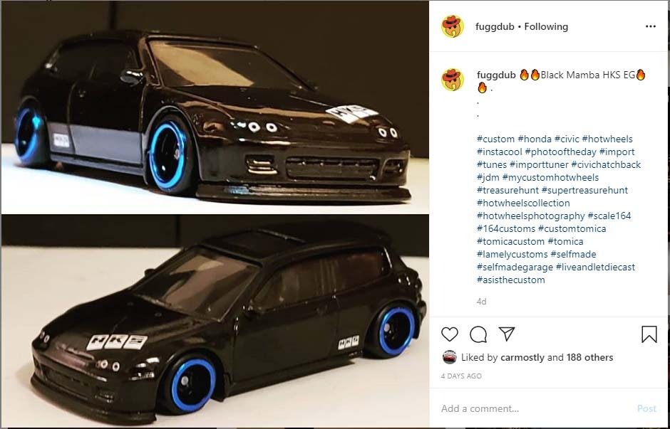 Honda Civic custom diecast