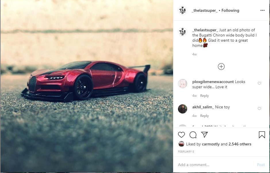 Bugatti Chiron custom diecast