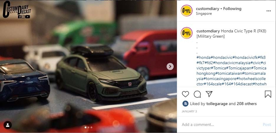 Civic Type R custom diecast