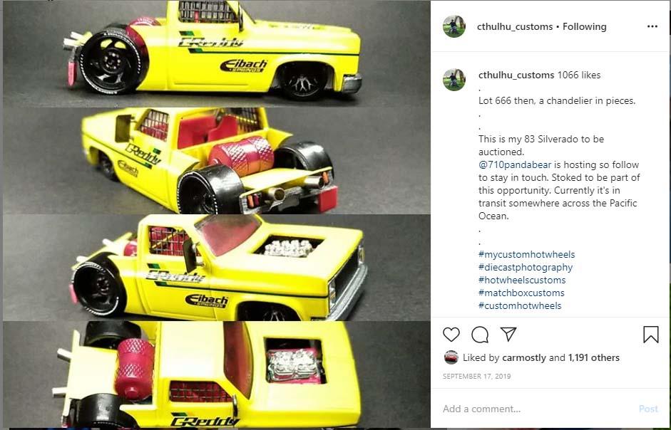drag truck custom diecast