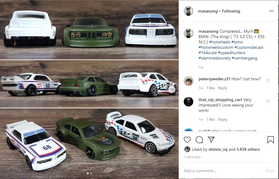 your custom diecast cars