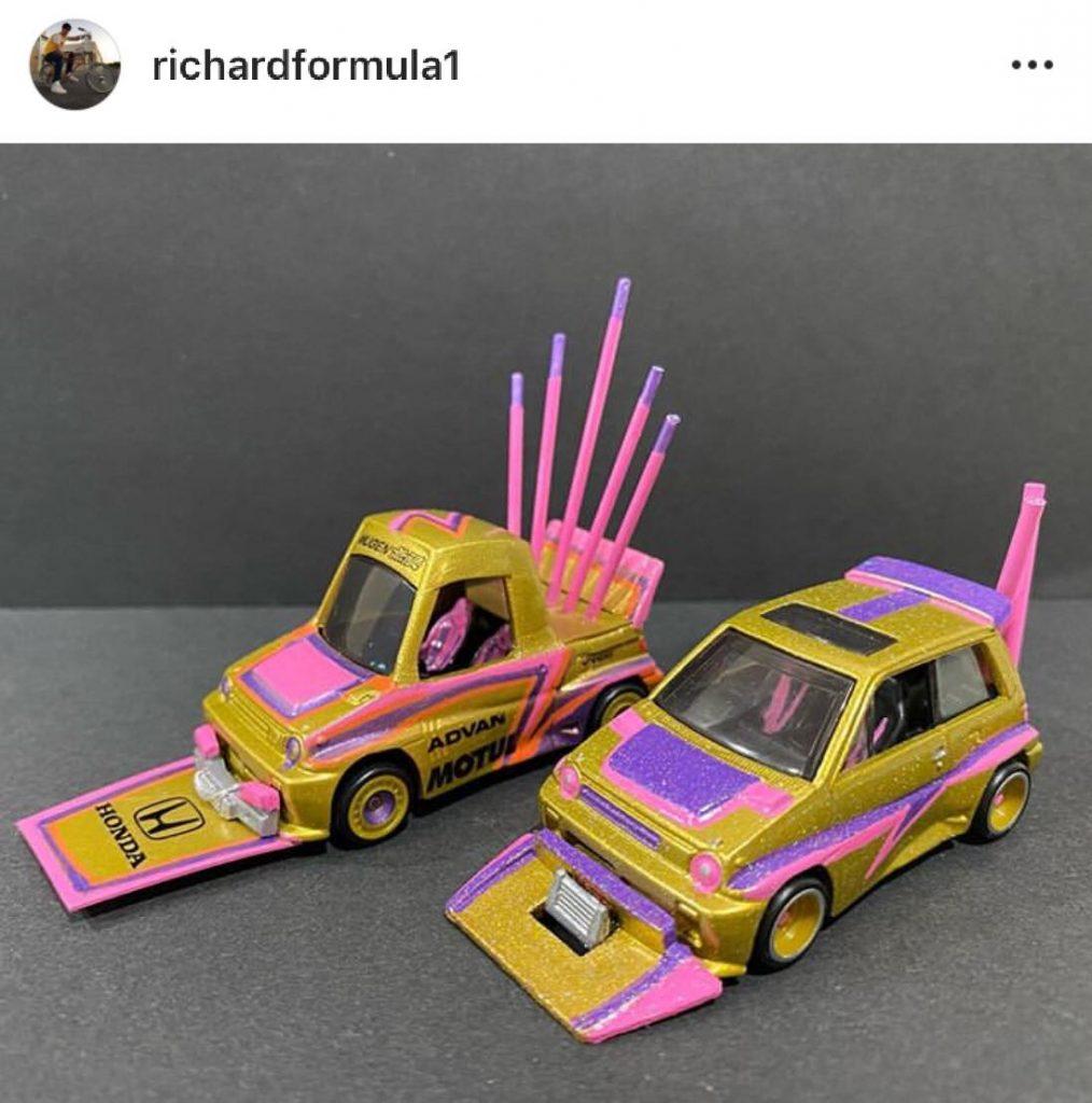 custom tooned diecast cars