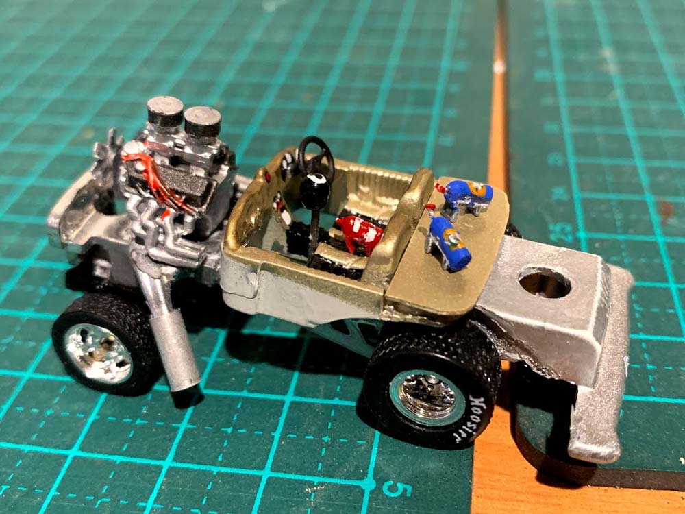 Custom Gasser - Tooned Hot wheels interior shot