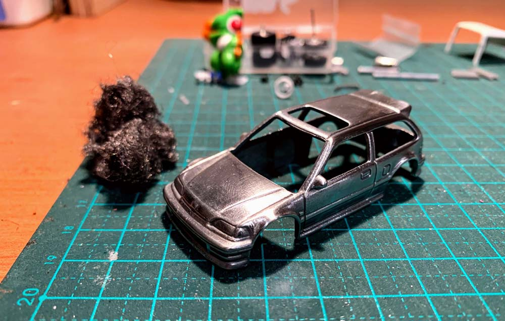 How to polish a Hot Wheels to a chrome finish