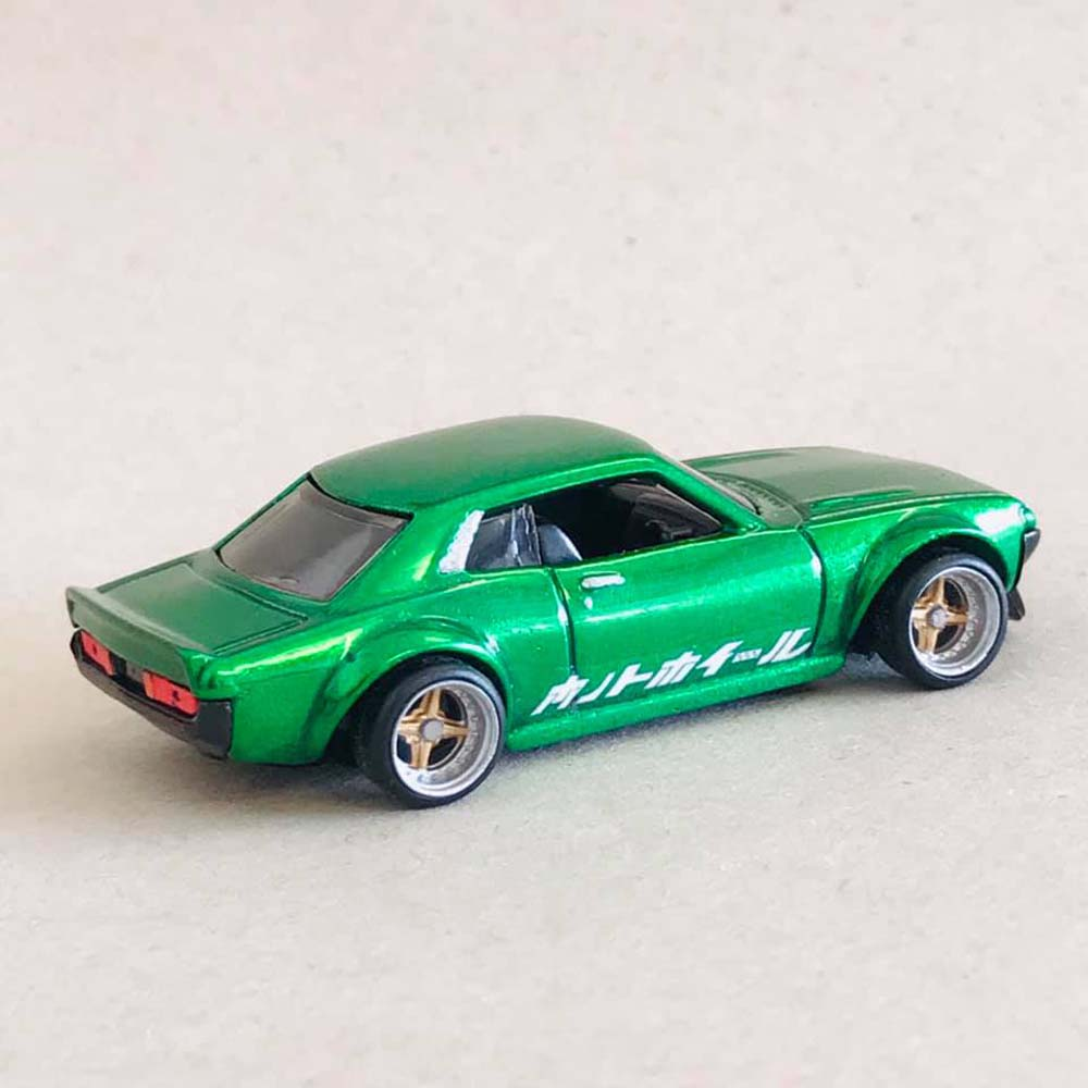 Tamiya Clear Green over polished diecast