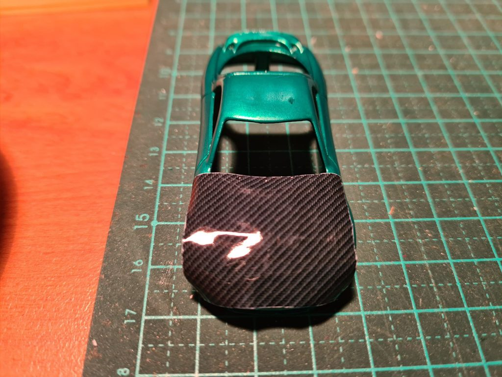 how to apply carbon fiber to hot wheels - step 1