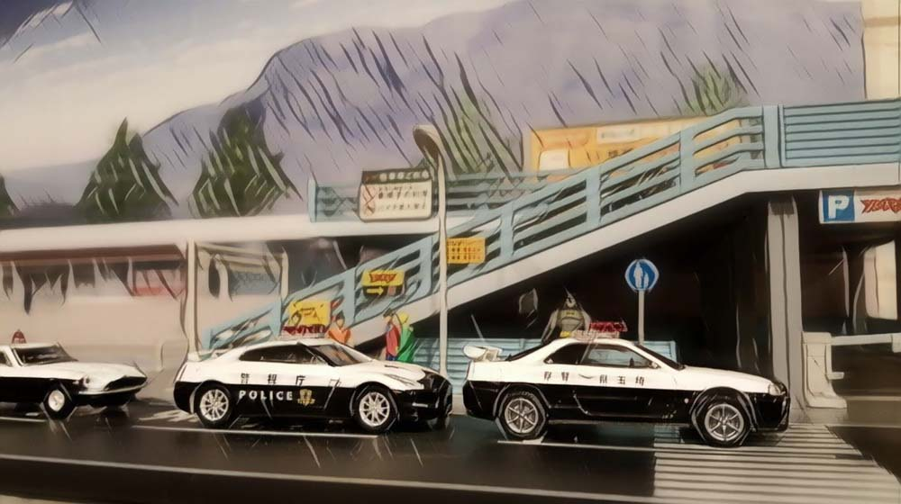 Japan Police Custom Hot Wheels